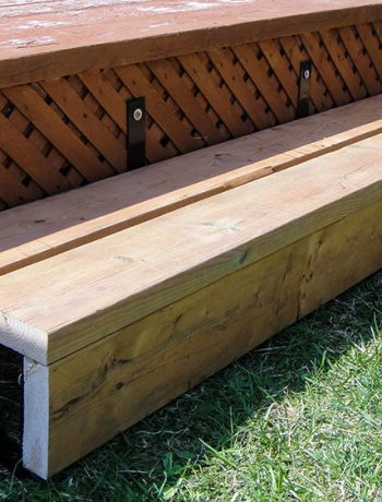 This was probably the quickest and easiest summer DIY project so far! Building a single step with brackets adds safety to your deck experience. For those thinking of adding a deck step, I hope my tips help you avoid some mistakes!