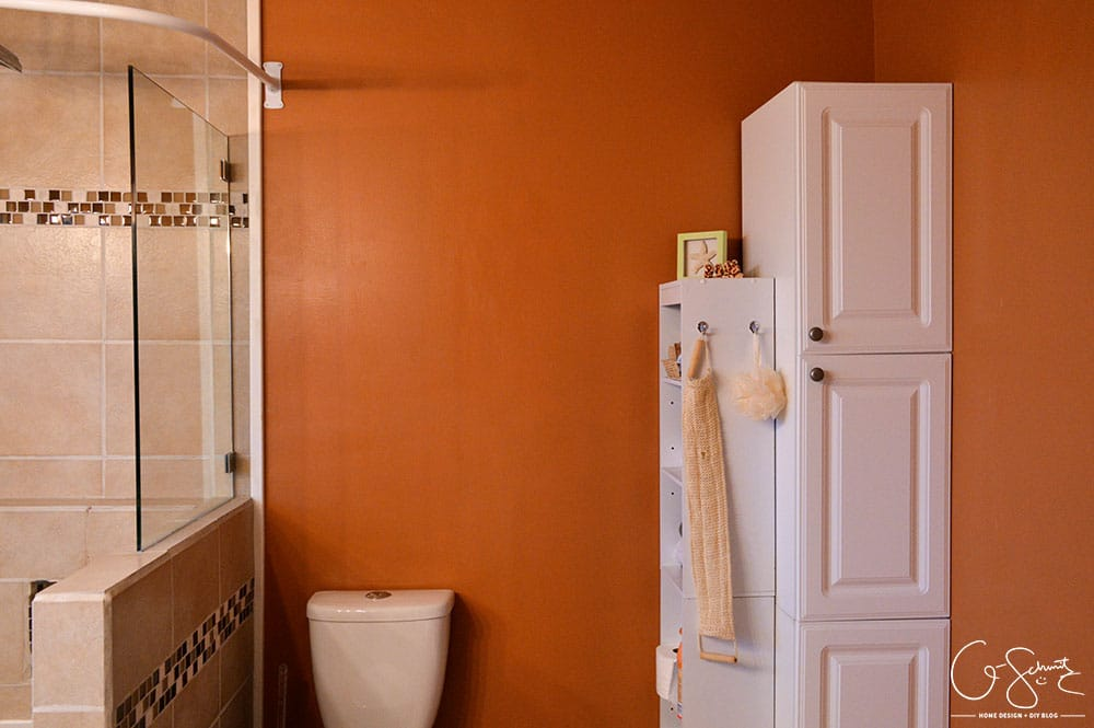 Have you ever tackled your own DIY bathroom renovation? Here is what our main bath looks like after we did ours!