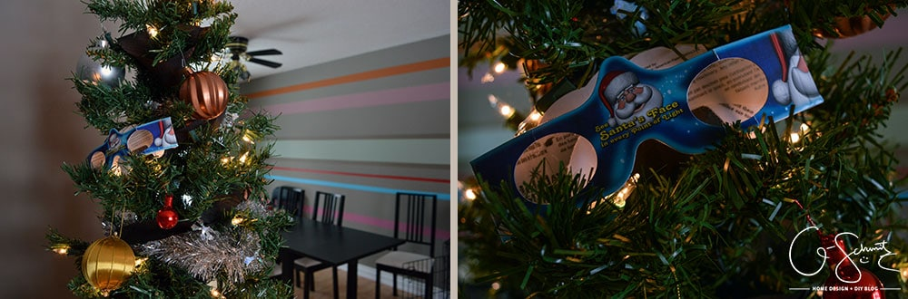 Welcome to my Happy Holiday Living Room Tour! I don't decorate too much so I figured I'd do something a bit different and do a play-by-play of how I decorated my tree this year.