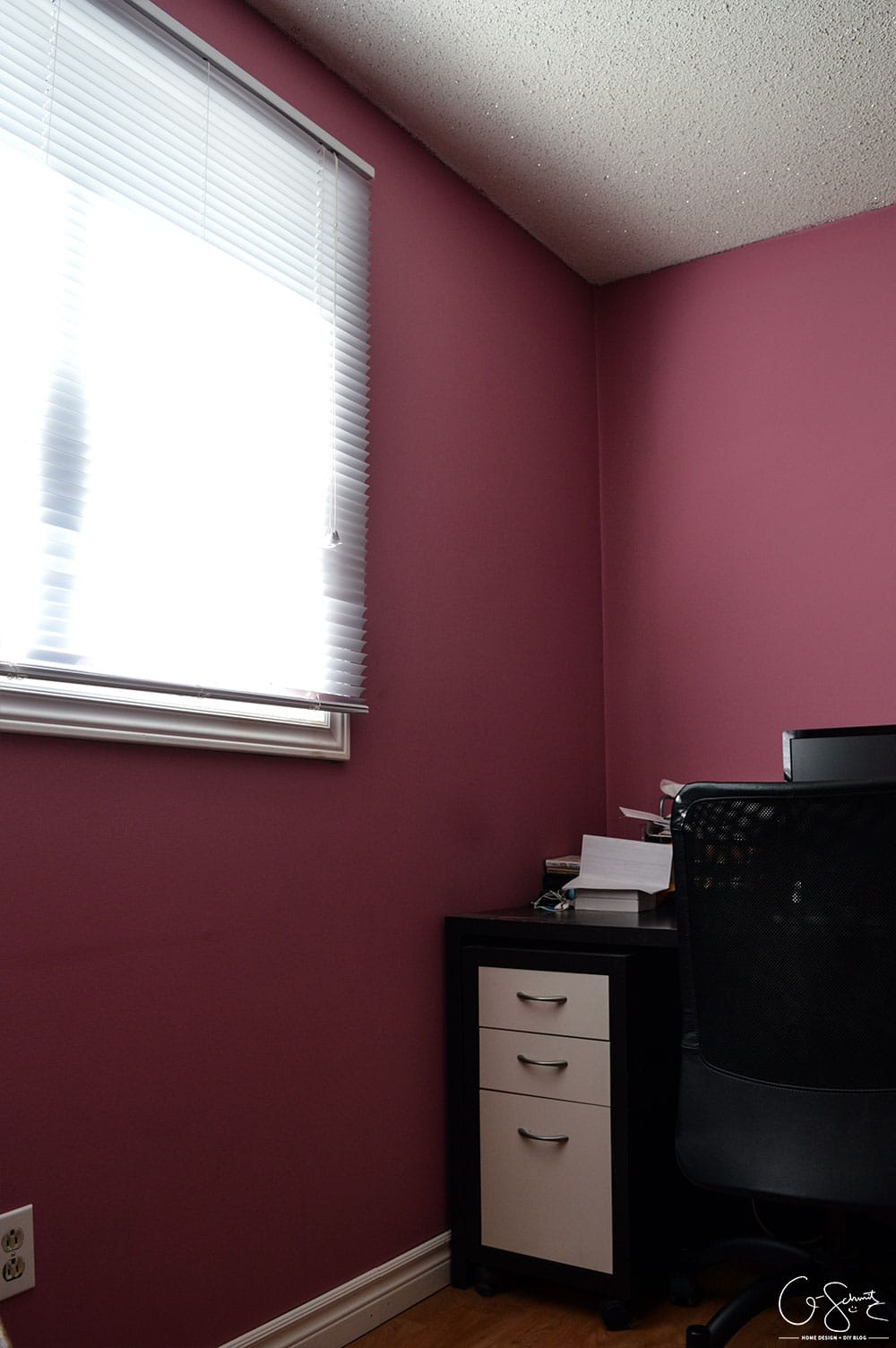 """As soon as we moved into our house we painted all the rooms. For this room, I mixed a bunch of paint I already had to create the perfect """"muted pepto-pink"""", check it out in The Pink Room!"""
