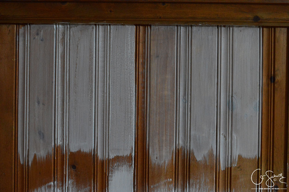 We have a lot of wood panelling in our basement that I would like to lighten up. But I can't decide on painting vs. whitewashing panelling and the brick we have.
