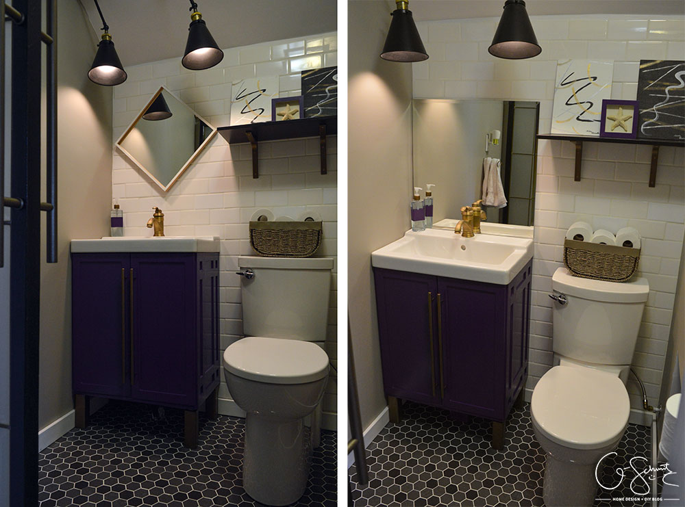 Today I am sharing the pictures of our basement half bathroom addition that we completed during the Spring 2016 One Room Challenge.