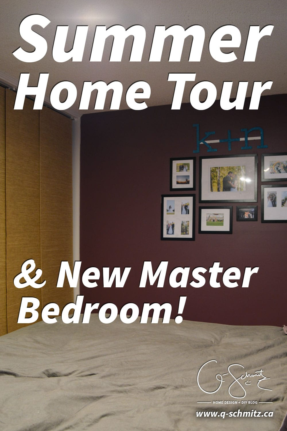 Today I'll be sharing photos of some different areas of my house, and most excitingly I'll be revealing our new Master Bedroom paint colour. Part of the summer home tour hosted by Green with Decor
