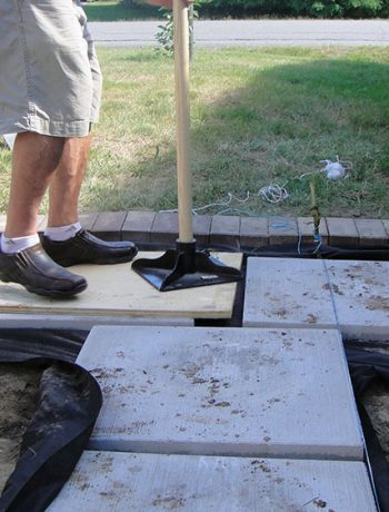 Thinking about adding some pizzazz to your outdoor landscaping this year? Today I'm going to explain how to install pavers in case you wanted a similar look at your house. This DIY project has some big impact!