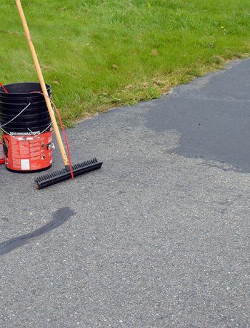 If you are planning on sealing an asphalt driveway, or have even completed this project in the past - read on for more information on how we did it!
