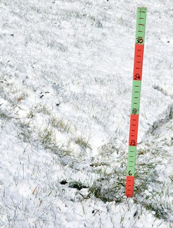 Do you live in an area that gets a lot of snow? This year I decided to make a simple snow scale to show how much snow has accumulated throughout the winter; and I'm sharing the easy (and fun) DIY so that you can make your own!