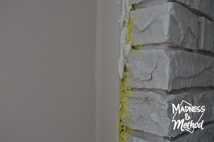 Filling gaps in the basement is a great way to stop cold air from getting in. This is a great DIY project that may save you money and looks better too!