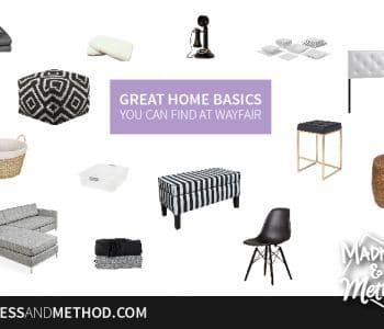 Are you just starting to collect home items, or do you want to bring in some fresh décor and practical items into your space? Here are some great home basics from Wayfair.ca that you can mix with many different colour schemes!