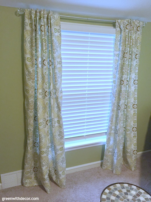 How to Hem Curtains from Green with Decor