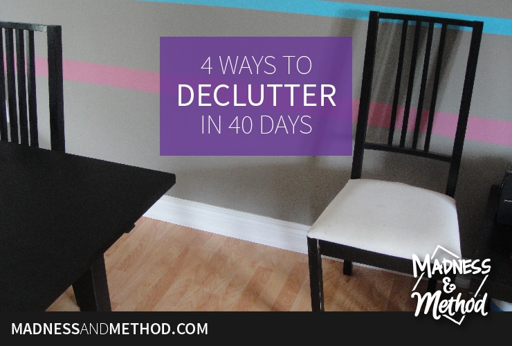 """What are you """"giving up"""" for Lent this year? Why not take a hard look at all your possessions and give up consumerism for a while. Today I'm sharing ideas on how to declutter your homes, so you can declutter your lives – why not be a minimalist for a month!?"""