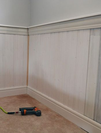 Are you planning to install tongue and groove panelling? It's actually a super quick DIY project and it will provide a big impact to your space!