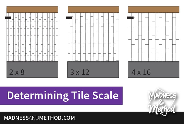 long subway tile scale