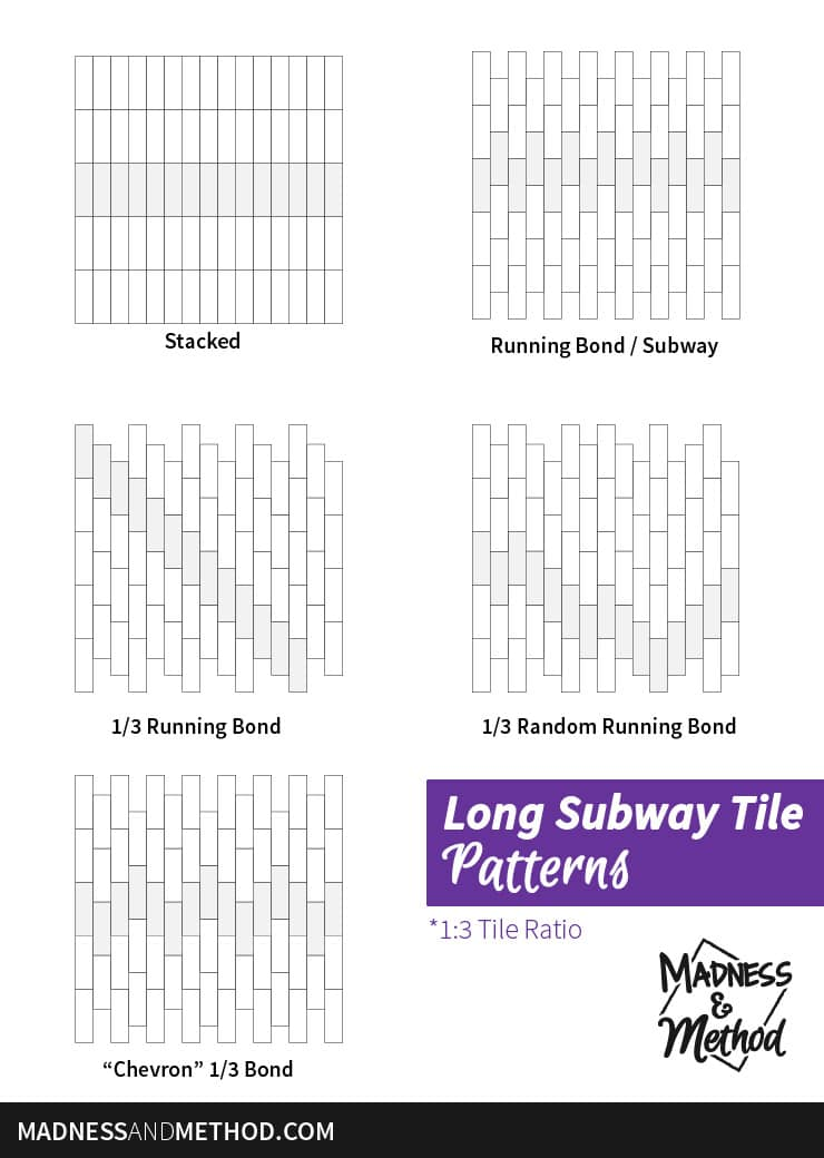 long subway tile pattern