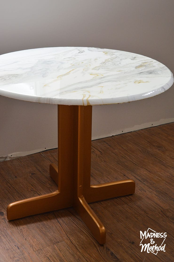 marble brass table diy